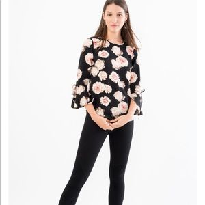 🍉25% OFF FLORAL BLOUSE WITH FLARE SLEEVES